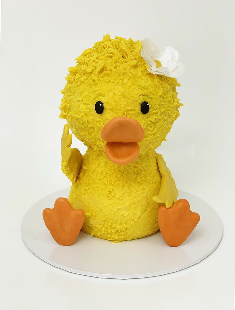 3D Buttercream Duck Cake Tutorial