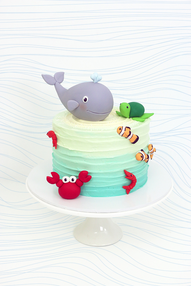 Buttercream Whale Cake